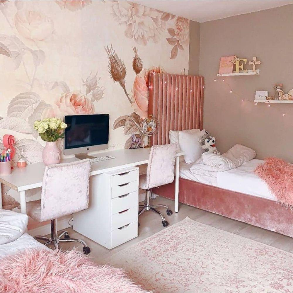 10 Inspirasi dekorasi kamar serba pink, cocok untuk ...