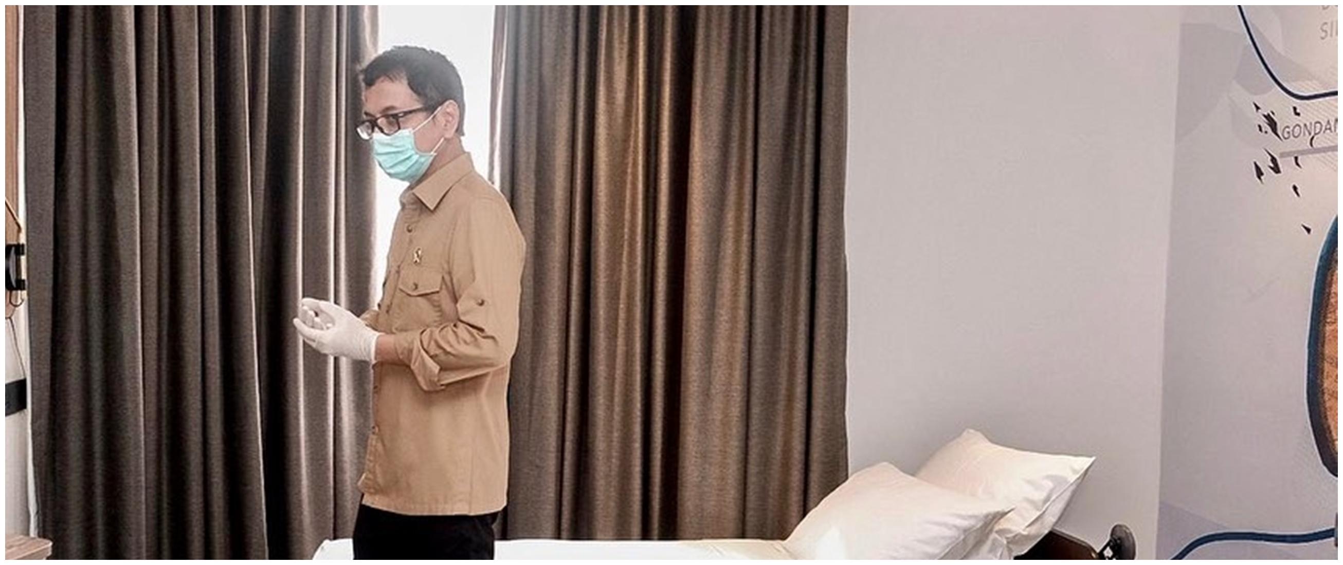 8 Momen Wishnutama tinjau hotel untuk ditinggali tenaga medis