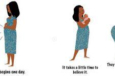 10 Ilustrasi gambarkan kasih sayang seorang ibu tiada tara