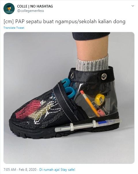 pamer sepatu istimewa