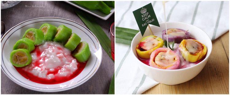 8 Resep es pisang ijo lembut, praktis, segar, dan lezat