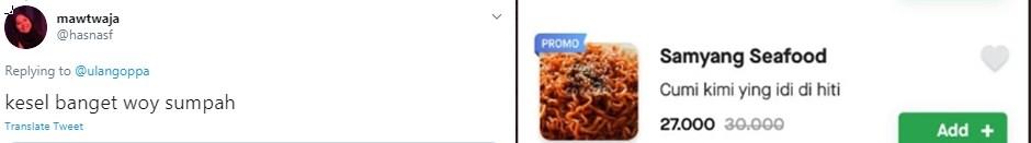 Deskripsi makanan unik  Twitter