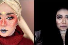 7 Potret makeup unik ala Ini Vindy, dari manglingi sampai nyeremin