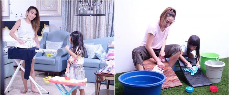 10 Potret aktivitas Ayu Dewi dan anak di rumah, antibosan