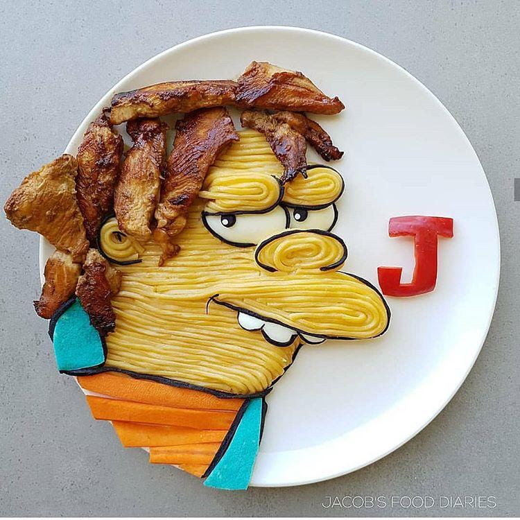Kreasi makanan bentuk tokoh kartun ini keren Instagram/ @jacobs_food_diaries