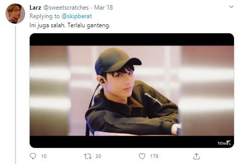 Idol Kpop naik lift Twitter
