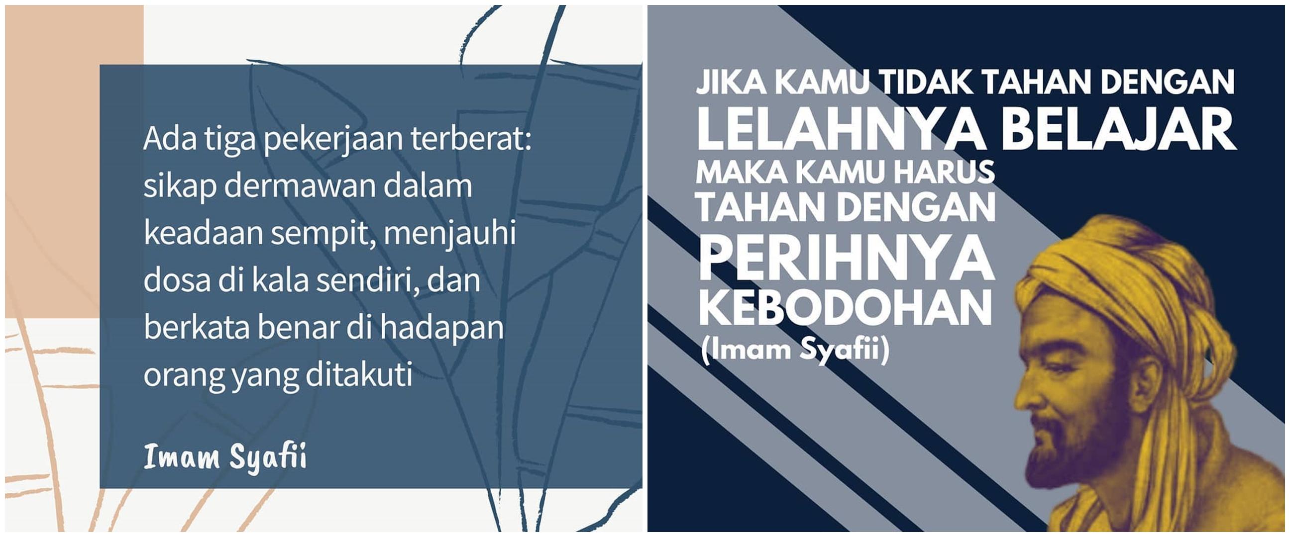 40 Kata-kata bijak ulama Imam Syafi'i, penuh makna