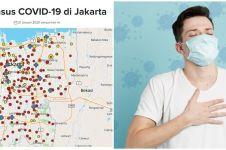 Peta penyebaran virus corona di Jakarta terbaru 2 April 2020