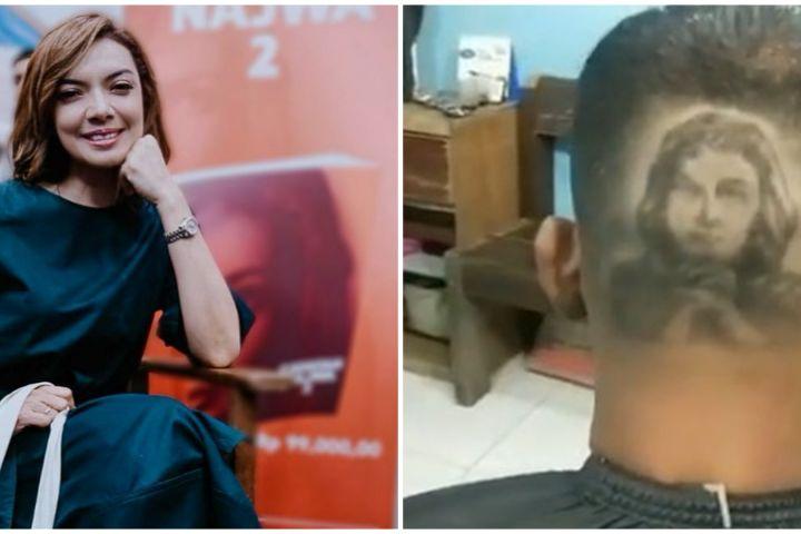 Wajahnya digambar di kepala seorang pria, ini reaksi Najwa Shihab
