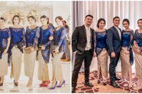 8 Potret bridesmaid pernikahan Kompol Fahrul, ada Awkarin