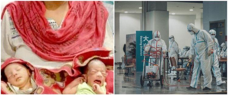 Bayi kembar bernama Corona dan Covid lahir di tengah pandemi