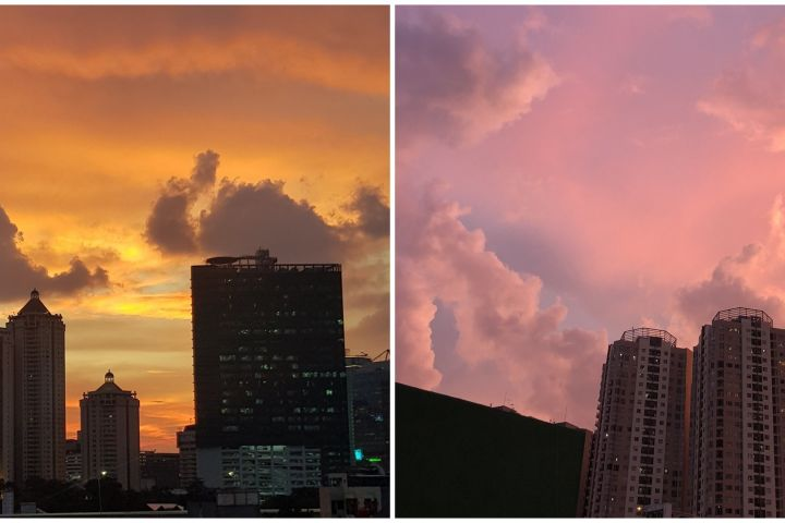 10 Penampakan langit senja Jakarta di masa isolasi corona beda banget