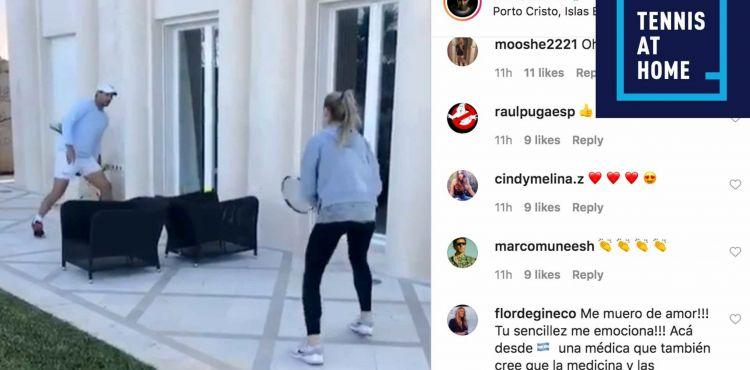 Begini cara Rafael Nadal menghilangkan jenuh saat di rumah aja