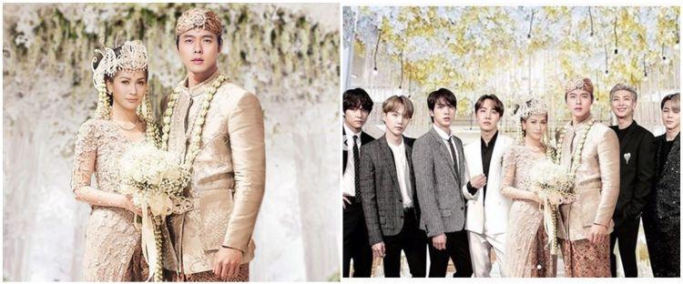 8 Foto editan pernikahan Tata Janeeta dan Hyun Bin, serasa asli