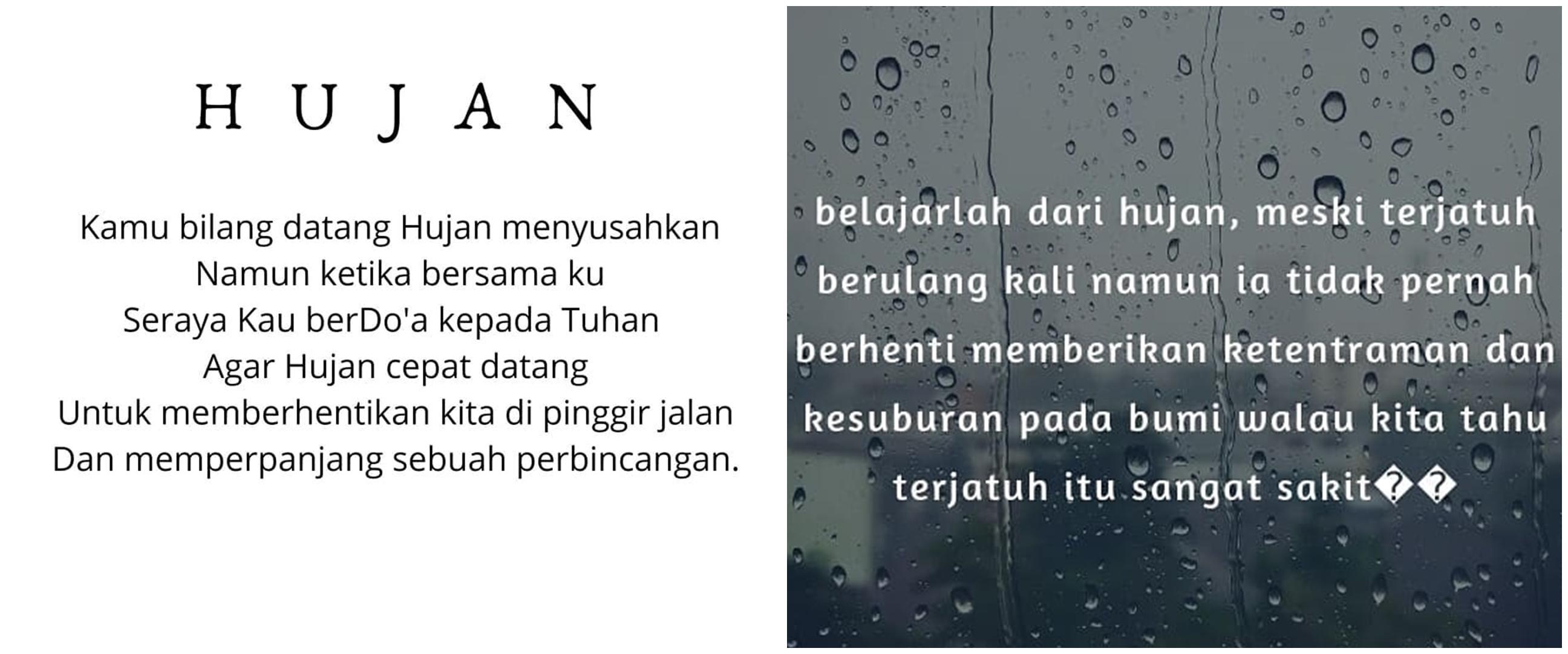 40 Kata-kata mutiara tentang hujan, puitis dan penuh makna