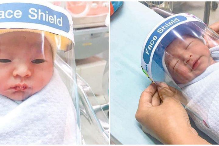 Cegah corona, bayi lahir di negara ini dipasangi pelindung wajah