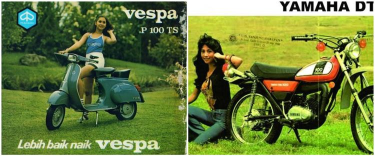 Penampakan 10 poster iklan jadul sepeda motor, simpel & menarik