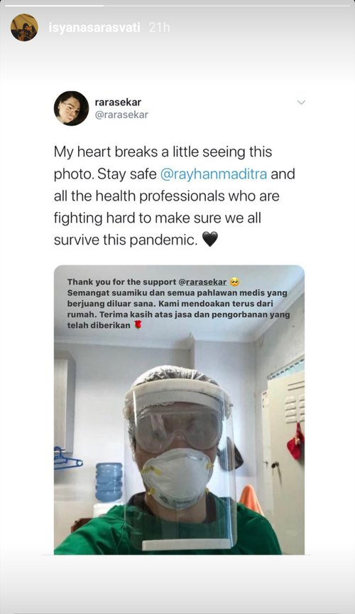 doa haru Isyana Sarasvati Instagram
