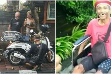 Momen haru difabel lansia mendadak diberi bule kursi roda di Bali