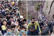 Foto-foto mengejutkan padatnya tempat wisata di China