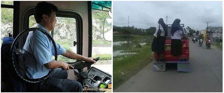 10 Momen awkward di kendaraan umum ini bikin susah nahan tawa