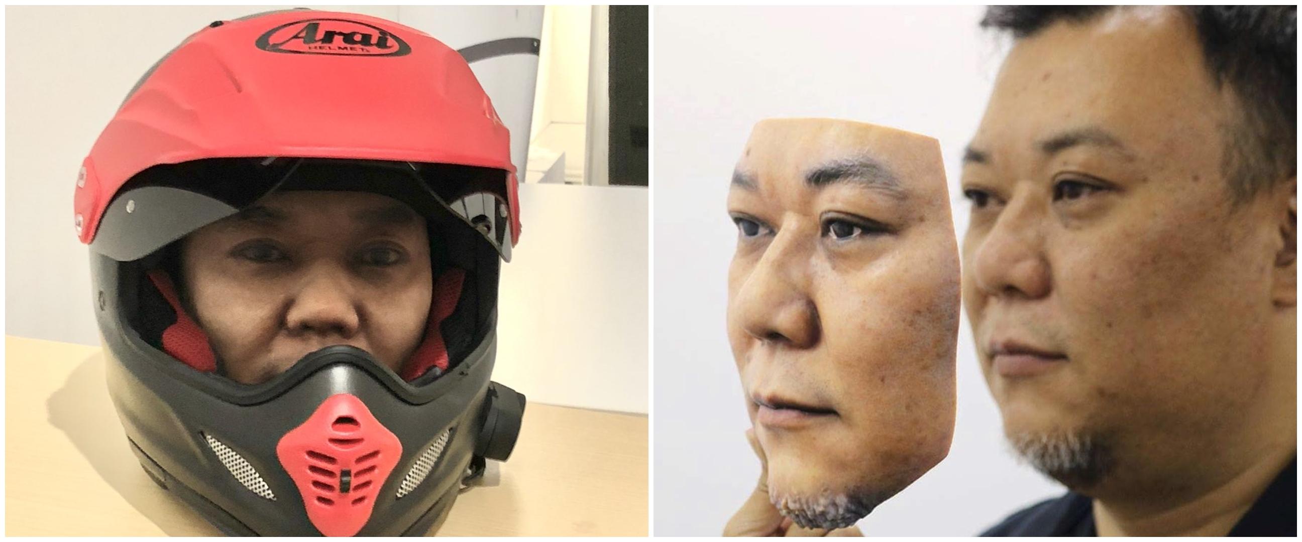 Seniman ini bikin masker topeng 3D, realistis wajah manusia