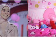 7 Penampakan kamar tidur Lesty Kejora, bernuansa serba pink
