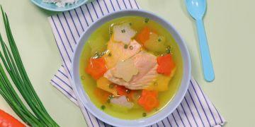 Resep sup salmon kunyit, lezat, mudah, bisa tingkatkan imun tubuh