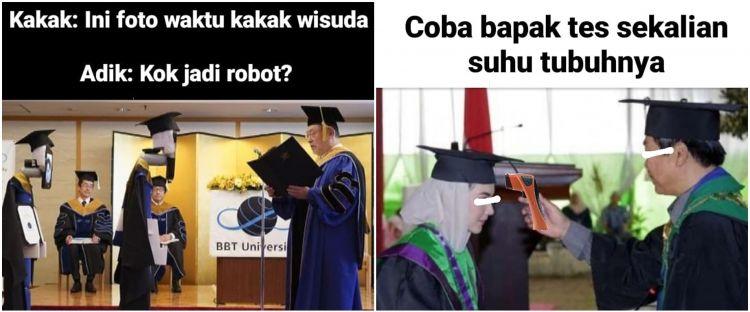 10 Meme wisuda saat lockdown ini wakili isi hati mahasiswa