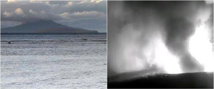 Video detik-detik erupsi Gunung Anak Krakatau terekam kamera