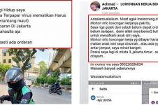 7 Curhat driver ojek online sepi orderan saat corona, bikin sedih