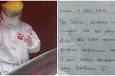 Isi surat mantan pasien corona untuk pekerja medis ini penuh haru