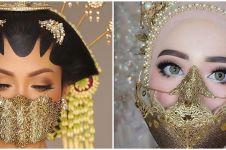 8 Inspirasi gaya pengantin pakai masker di tengah corona