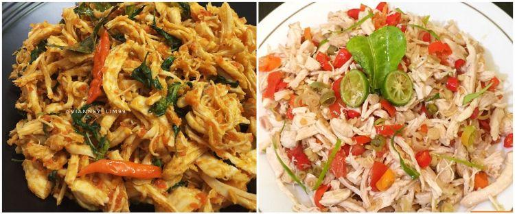 9 Resep ayam suwir, enak, pedas, praktis dan menggugah selera