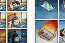 12 Ilustrasi ini sindir kamu yang kecanduan gadget, miris