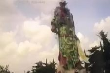 Patung Dewa Perang Tertinggi se-Asia Tenggara roboh, ini faktanya