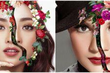 Gaya 7 seleb pemotretan tema 'A Face of Flower', bikin terpukau