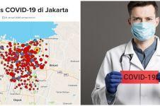 Peta penyebaran corona DKI Jakarta terbaru 17 April 2020