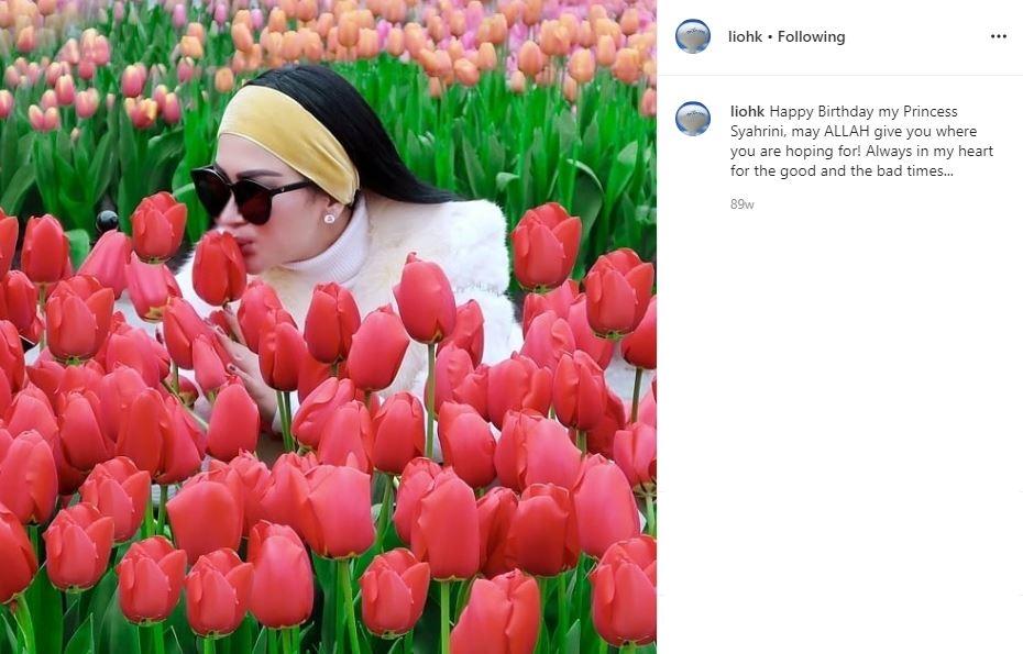 Syahrini dan papa angkatnya  Instagram