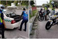 Bikin haru, polisi antar pulang kakek berkursi roda di pinggir jalan