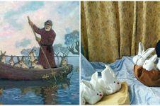 9 Parodi lukisan klasik ini lucunya bikin nyengir tipis
