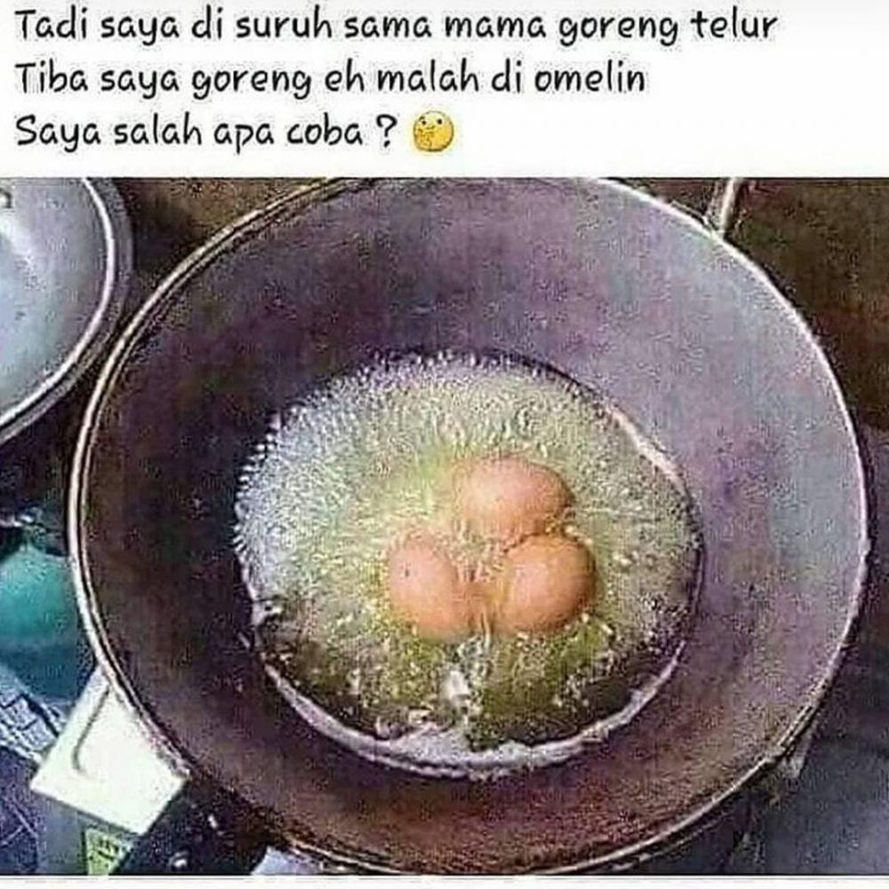 status fb lucu gagal masak © 2020 instagram.com