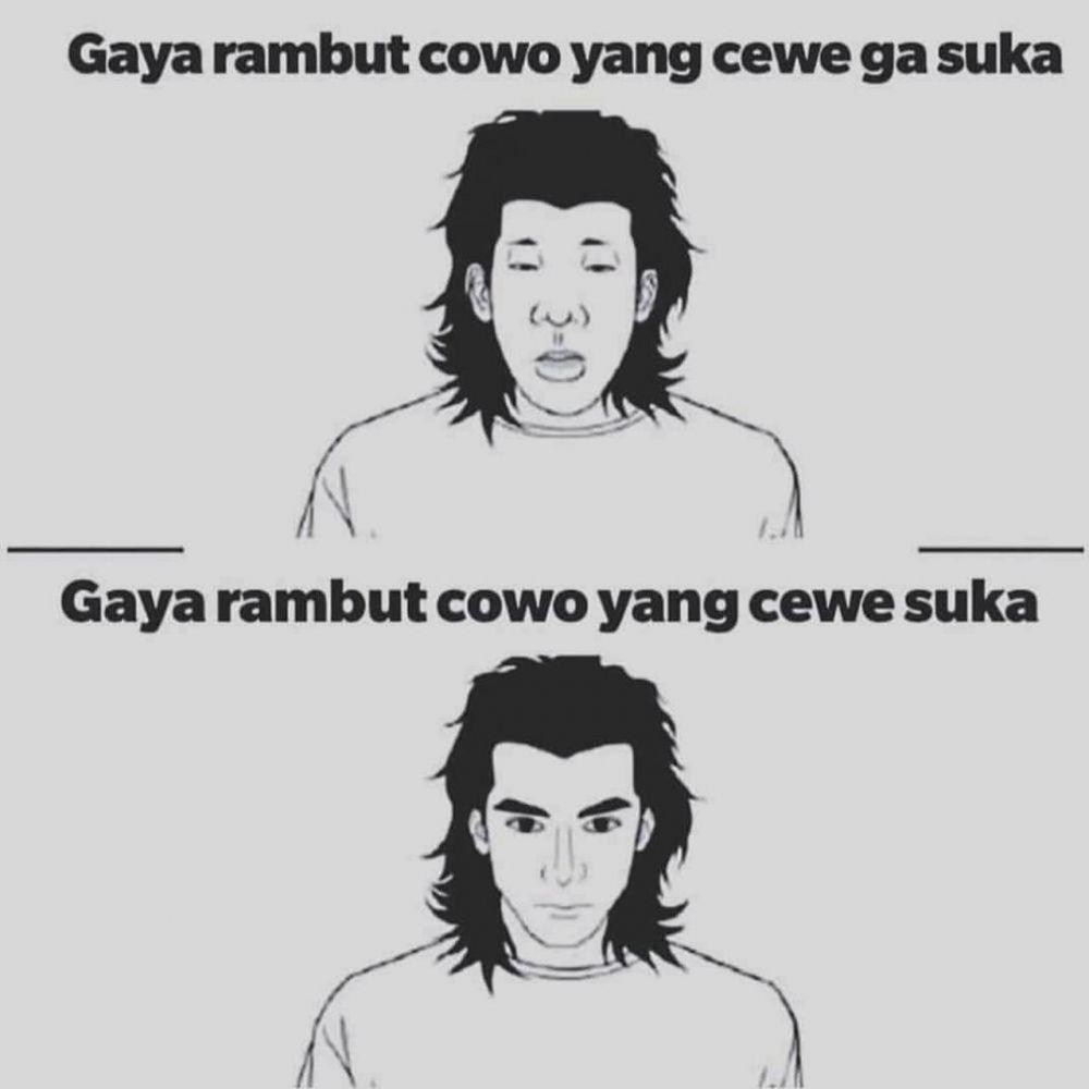 6 Meme lucu rambut cowok berbagai sumber