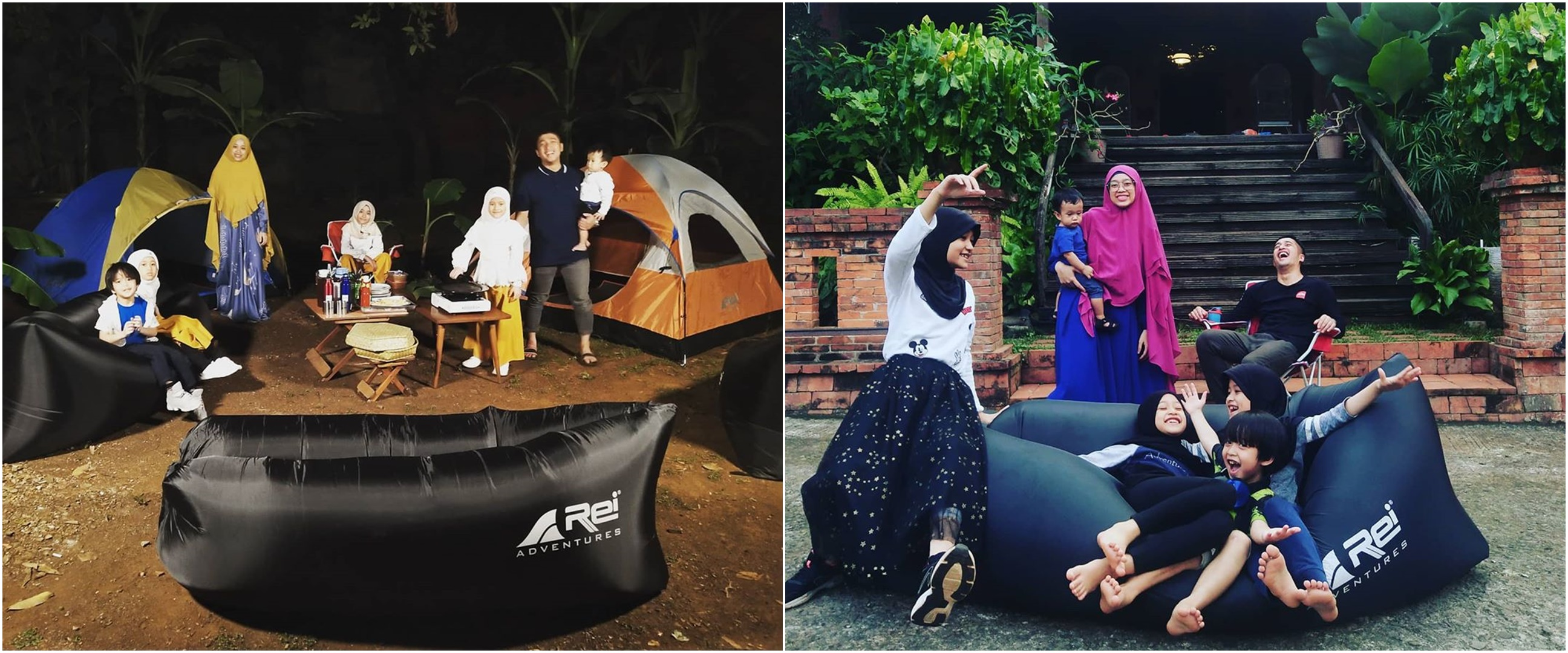 7 Potret keseruan Irfan Hakim kemah bareng keluarga di rumah