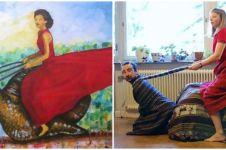 Aksi peragakan 15 pose di lukisan terkenal ini bikin geleng kepala
