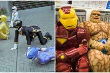 10 Potret kelakuan 'superhero' gagal gagah, bikin tepuk jidat