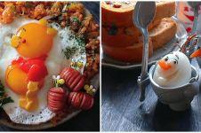 10 Potret kreasi telur berbentuk tokoh kartun, nggak tega makan