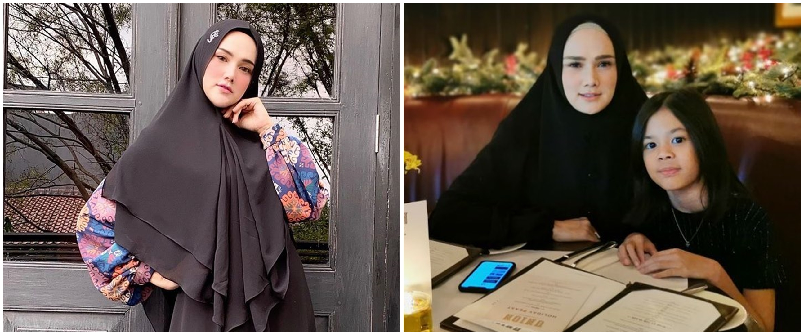 Mulan Jameela posting foto salat bareng, paras anak bikin salfok
