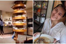 6 Potret dapur Paula Verhoeven, perabotannya bernuansa kayu