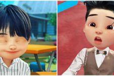 8 Foto editan tokoh kartun Upin & Ipin jadi oppa Korea, ganteng pol!